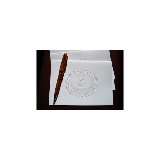 Kentucky Colonel Embossed Cards and Envelopes