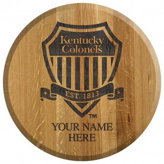 Shield Logo Personalized Etched Barrel Head