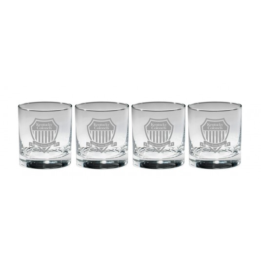 Personalized Shield Rocks Glasses 4-pack