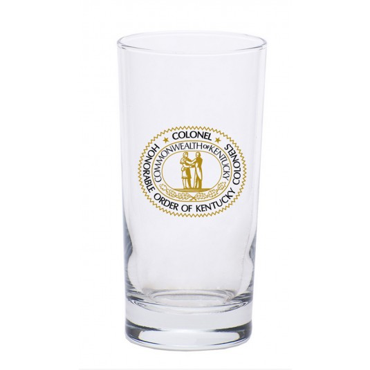 Kentucky Colonels Seal Logo High Ball Glass