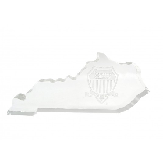 Small Kentucky Shape Shield Logo Paperweight