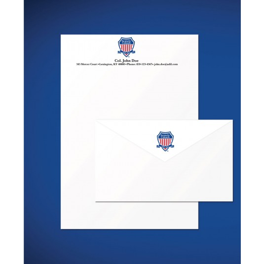 Personalized Kentucky Colonel Shield Logo Stationery Set