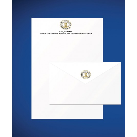 Personalized Kentucky Colonel Seal Logo Stationery Set