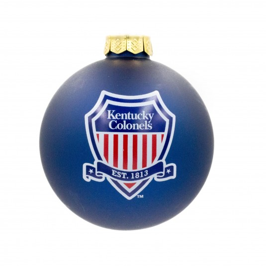 Kentucky Colonels Shield Logo Glass Ornament
