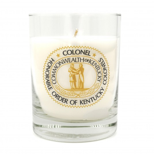 Kentucky Colonels Seal Logo Bourbon Oak Candle
