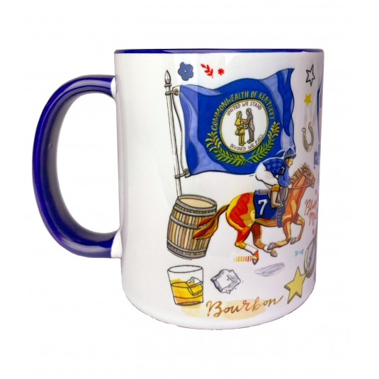 Kentucky Colonels Whimsy Art Mug