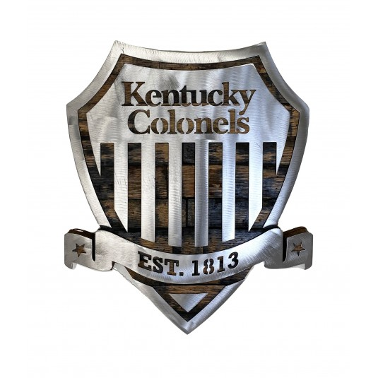 Kentucly Colonels Metal Shield Barrel Wood