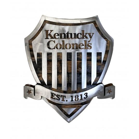 Kentucky Colonels Metal Shield Barrel Wood