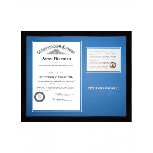 Architect Commission Certificate Frame