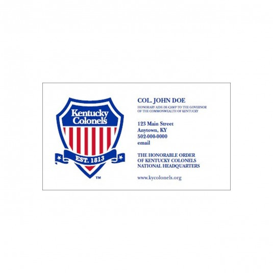 Personalized Colonel Calling Card