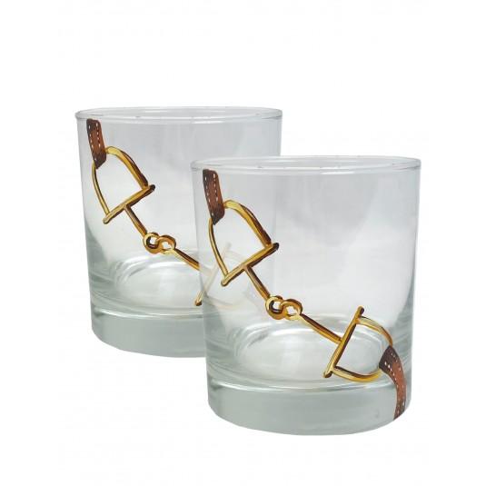 John Morris Snafflebit Rocks Glass